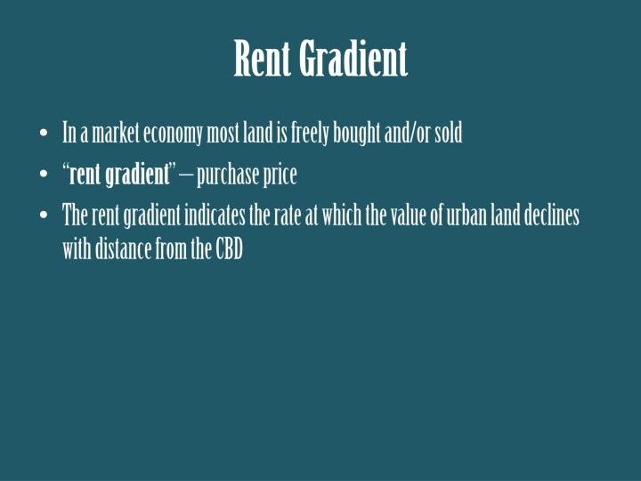 Rent Gradient