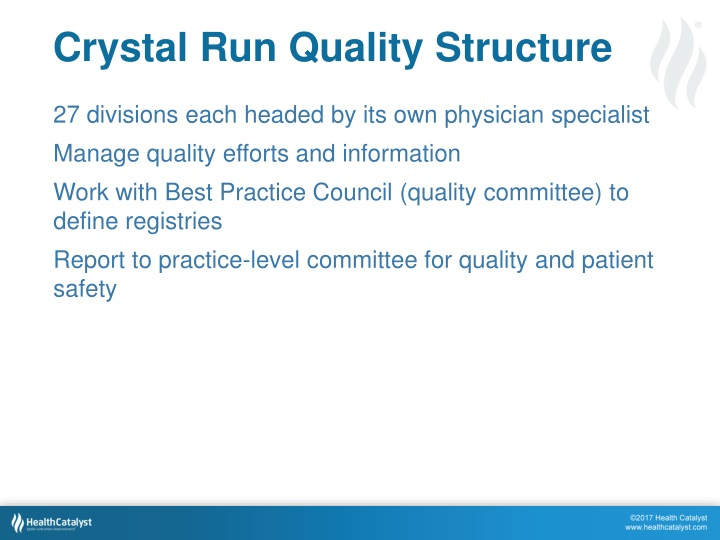 Crystal Run Quality Structure