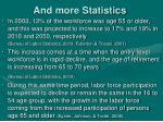 and more statistics