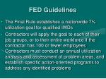 fed guidelines
