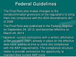 federal guidelines1