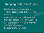 keeping older employees