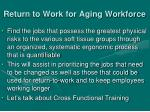 return to work for aging workforce