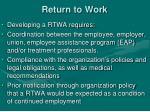 return to work1