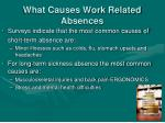 what causes work related absences