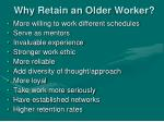 why retain an older worker