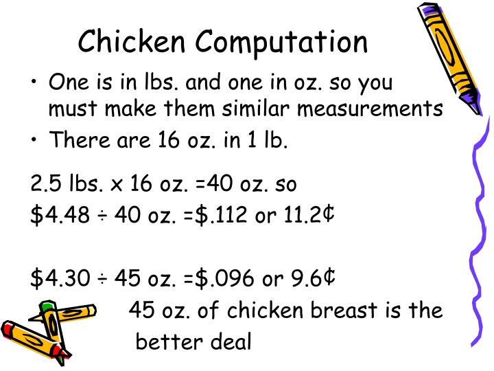 Chicken Computation