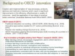 background to oecd innovation