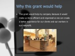 why this grant would help
