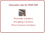 calculator use for psat sat