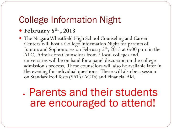 College Information Night
