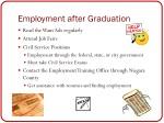 employment after graduation