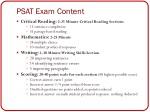 psat exam content