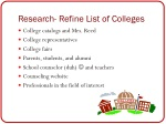 research refine list of colleges