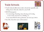 trade schools