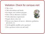 visitation check for campus visit