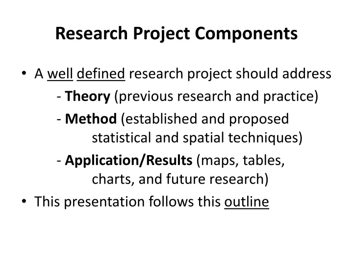 Research Project Components
