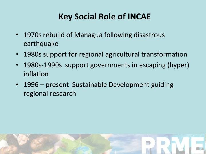 Key Social Role of INCAE