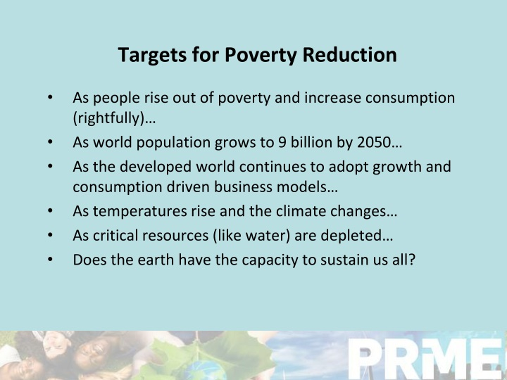 Targets for Poverty Reduction