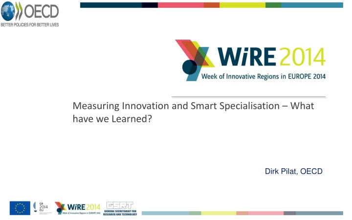 Measuring innovation and smart specialisation what have we learned