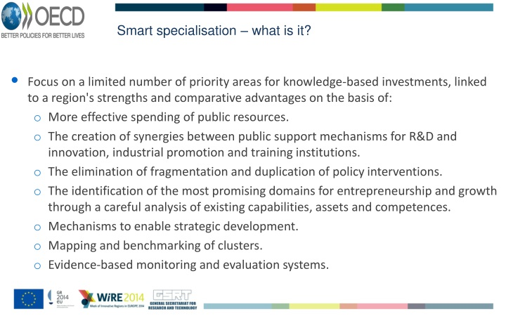 Smart specialisation – what