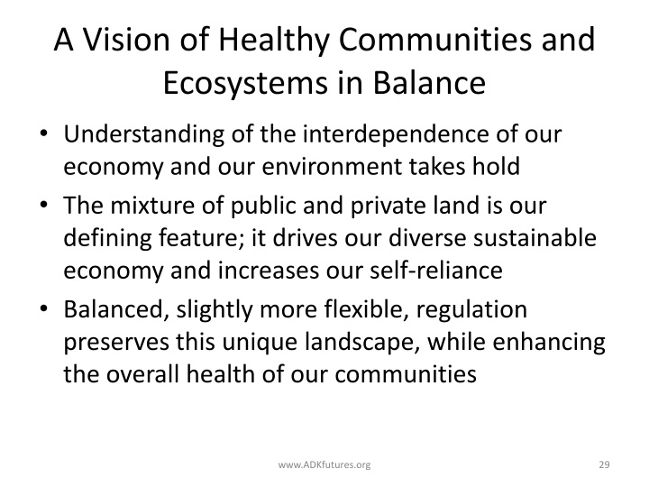 A Vision of Healthy Communities and Ecosystems in Balance