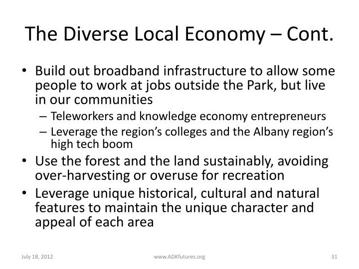 The Diverse Local Economy – Cont.