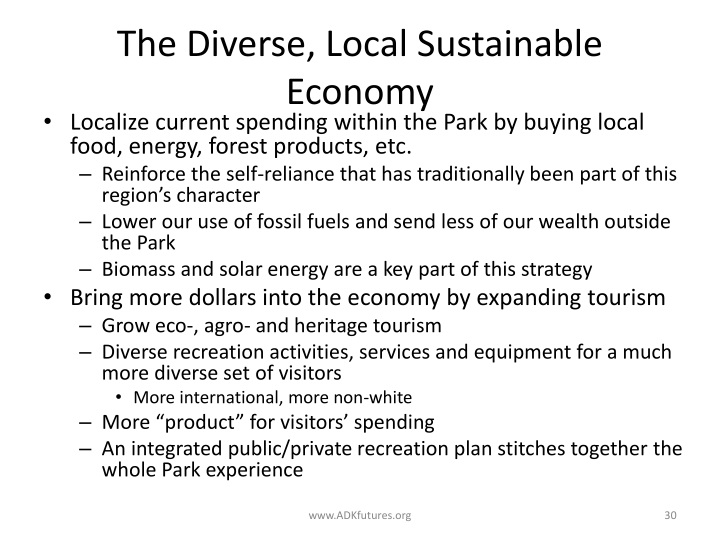 The Diverse, Local Sustainable Economy