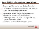 about rule 41 performance versus weight