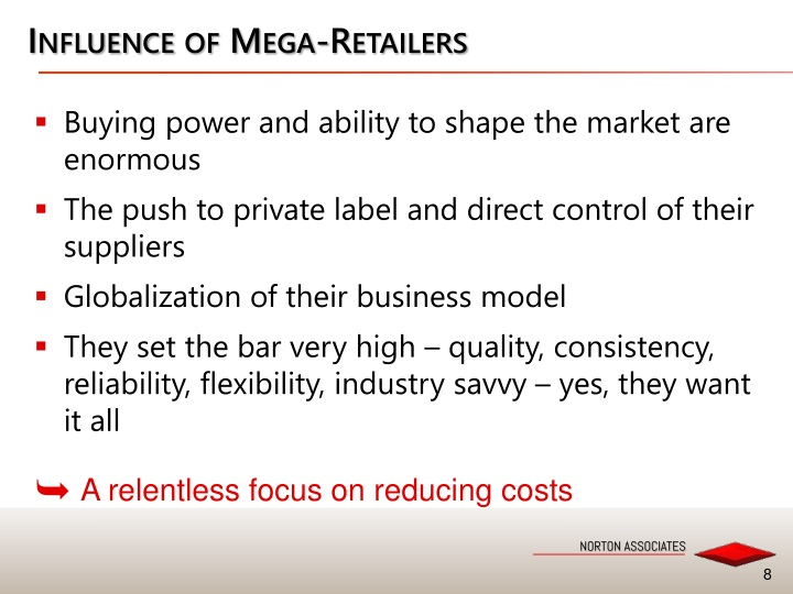 Influence of Mega-Retailers