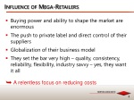 influence of mega retailers