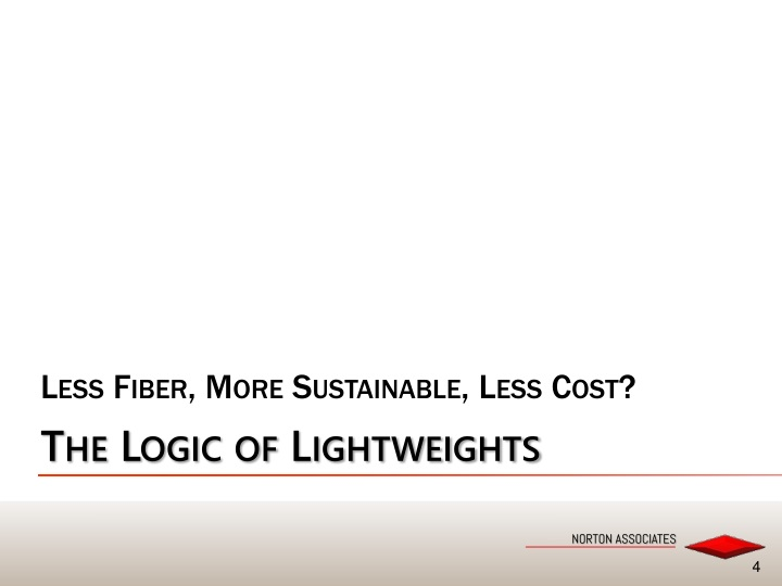 Less Fiber, More Sustainable, Less Cost?