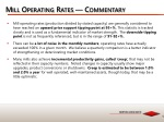 mill operating rates commentary