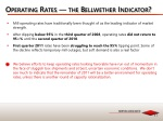 operating rates the bellwether indicator