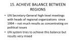 15 achieve balance between regions