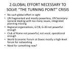 2 global effort necessary to solve the turning point crisis