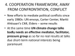 4 cooperation framework away from confrontation conflict