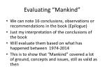 evaluating mankind