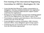 first meeting of the international negotiating committee for unfccc washington dc feb 1991