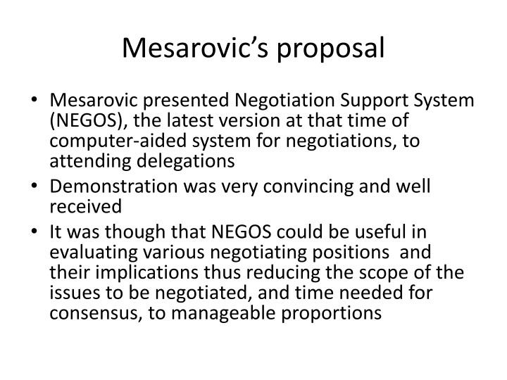Mesarovic's proposal