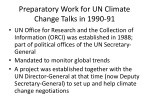 preparatory work for un climate change talks in 1990 91