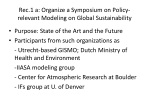 rec 1 a organize a symposium on policy relevant modeling on global sustainability