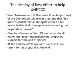 the destiny of first effort to help unfccc
