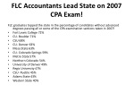 flc accountants lead state on 2007 cpa exam