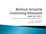 buckeye actuarial continuing education april 26 2011