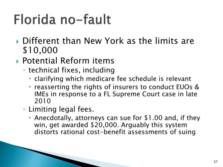 Florida no-fault