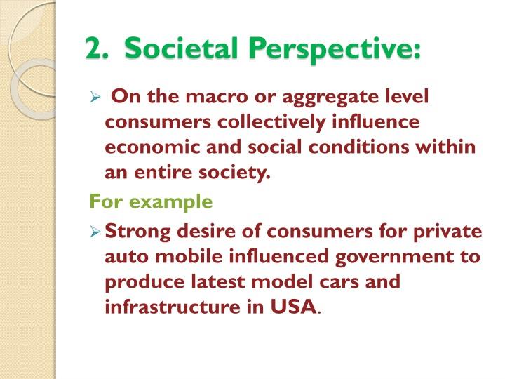 2.  Societal Perspective: