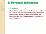 6 personal influence