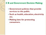 c b and government decision making