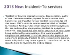 2013 new incident to services